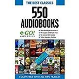 e-GO! Library 550 Classic Audio Books, Blue