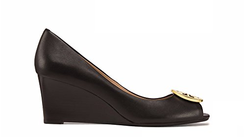Tory Burch Kara 65mm Wedge Black Women's Shoe (8) by Tory Burch