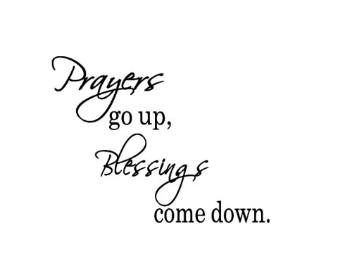 Vinyl Wall Decal Prayers Go up Blessings Come Down Removable Letters Removable Letters
