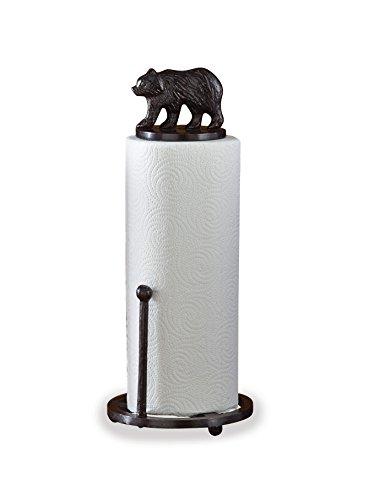 Park Designs, Cast Bear Paper Towel Holder by Park Designs, Black