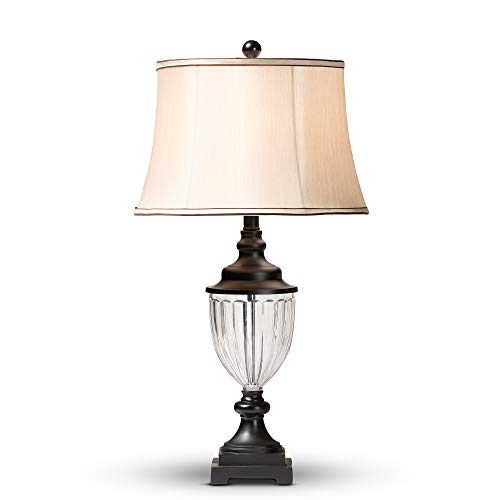 Baxton Studio 154-9138-AMZ Table Lamps One Size Off-White/Clear/Black ()