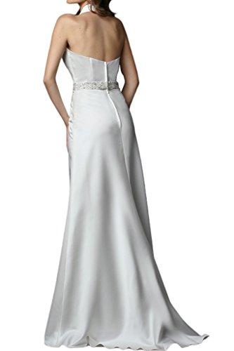 La_mia Braut 2016 Neu Edel Hochwertig Satin Neckholder Hochzeitskleider Brautkleider Brautmode A-linie