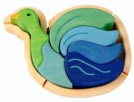 Kathe Kruse Wooden Puzzle ~ Bird