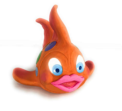 Extra-Large Fish Rubber/Latex Squeaky Dog Toy for Large Dogs Natural Rubber Comply with Same Safety Standards as Kids' Toy. ()