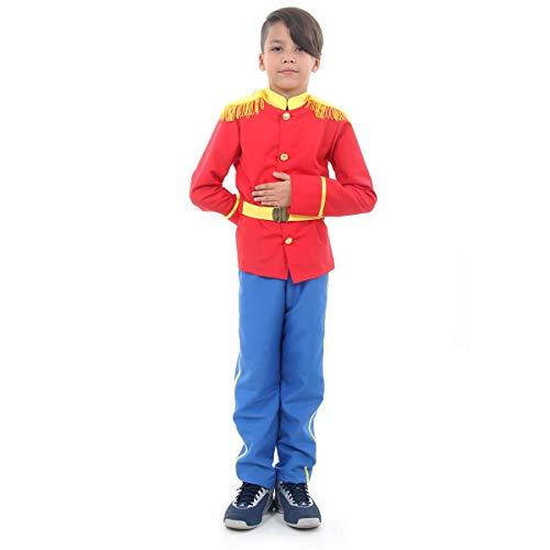 Príncipe Luxo Infantil 35408-P Sulamericana Fantasias Azul/ Vermelho P 3/4 Anos