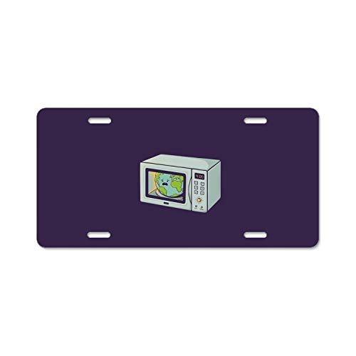 MIKONG License Plate Frame, Global Warming Car Tag Frame,License Plate Holder, Decorative License Plate ()