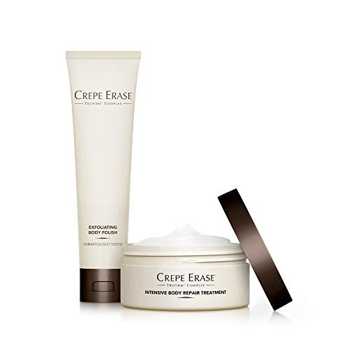 Crepe Erase - Trial Size Body Duo - TruFirm Complex - Intensive Body Repair Treatment and Exfoliating Body - Ts Treatment Hand Dermactin