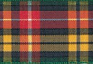 Scotland Tartan Ribbon - Berisfords Essentials R762210/5   Buchannan Woven Tartan Ribbon   25m x 10mm
