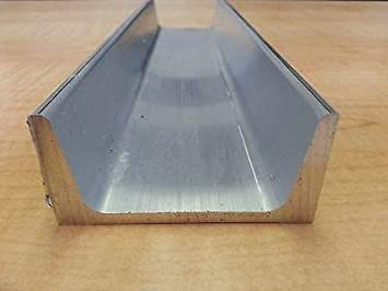 "Aluminum Channel 6063 .75/"" x .75/"" Sharp Corner x 60/"""