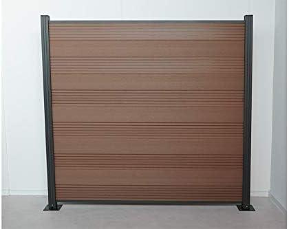 WoodoTexel WPC - Valla con protección visual y ranuras (1850 x 20 x 1800 mm, incluye perfil de iniciación y terminación), color marrón: Amazon.es: Jardín