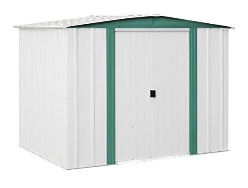 Yopih Hamlet HM Steel Storage Shed, 8 by 6-Feet