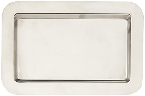 Frieling USA   18/10 Mirrored Finish Stainless Steel Serving Tray, 9.4-Inch by 5.6-Inch