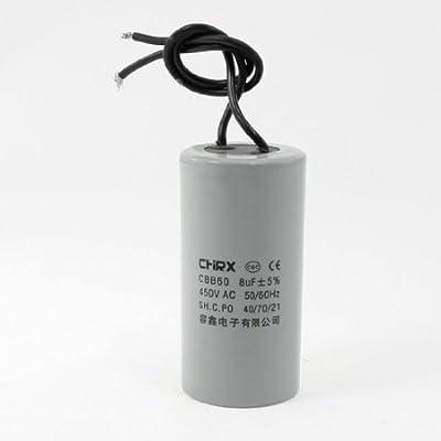 DealMux CBB60 AC 450V 8uF polipropileno Motor Running Capacitor ...