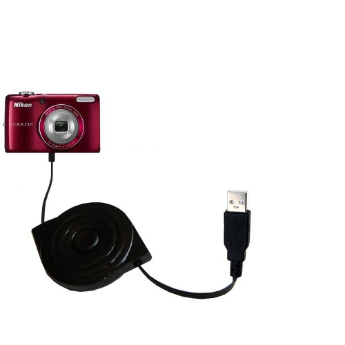 USB Power Port Ready retractable USB charge USB cable wired specifically for the Nikon Coolpix S4200 / S4300 and uses TipExchange