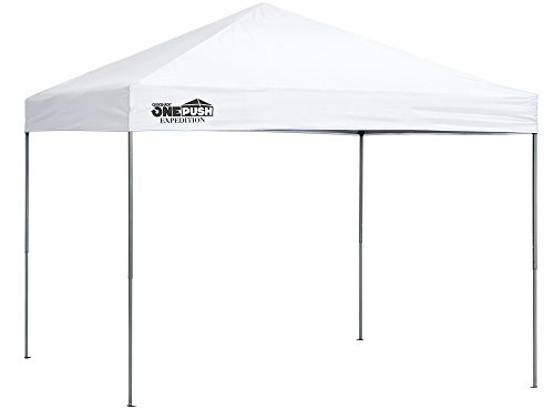 Quik Shade Expedition One Push 10 x 10 ft. Straight Leg Canopy, White (Quik Shade 10x10 Expedition 100 Straight Leg Canopy)