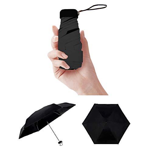 GUCHIS Mini Folding Compact Travel Umbrella Portable And Lightweight UV Protection Sun Umbrella With Case Pocket Umbrella