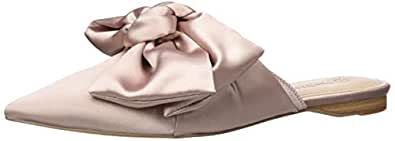 The Drop Essen Bow Pointed Toe Flat Mule, Antique Rose, 6