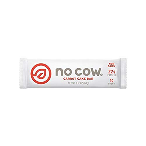 No Cow Protein Bar (Carrot Cake, 24 Bars) by No Cow