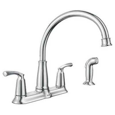 amazon com moen 87403 bexley chrome 2handle lever kitchen faucet rh amazon com moen level 7175 kitchen faucet moen single lever kitchen faucet repair