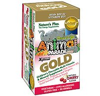Animal Parade GOLD Children's Multi 120 Chewable Cherry Flavors