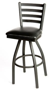 Oak Street Swivel Bar Stool metal ladder back seat for sale  Delivered anywhere in USA