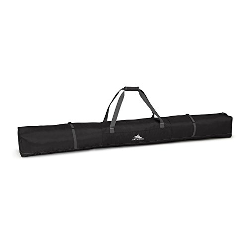 High Sierra Single Ski Bag - Large, Black/Mercury (Black Ski Bag)