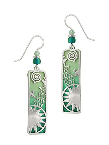 Adajio by Sienna Sky Aqua Sea Green Long Column Earrings 7429