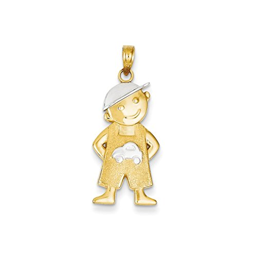 ICE CARATS 14kt Yellow Gold Boy Hands In Pockets Pendant Charm Necklace Baby Fine Jewelry Ideal Gifts For Women Gift Set From Heart 14kt Gold Baby Boy Charm
