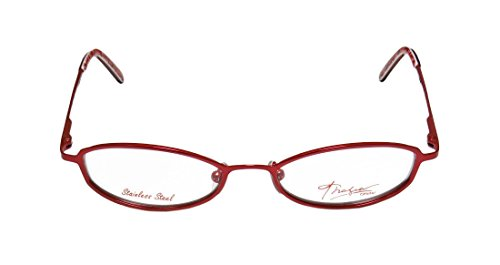 Thalia Ave WomensLadies Ophthalmic Exclusive Designer Full-rim Spring Hinges EyeglassesGlasses (46-16-130 Cherry)