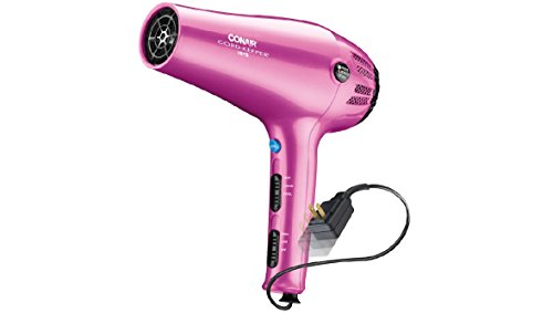 Conair 1875 Watt Cord-Keeper Hair Dryer with Ionic Conditioning; Pink (Conair Ion Shine 1875w compare prices)