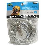 Aspen PET Dog TIEOUT with Trolley Wheel - Size: 75 FT - Color: Clear ()