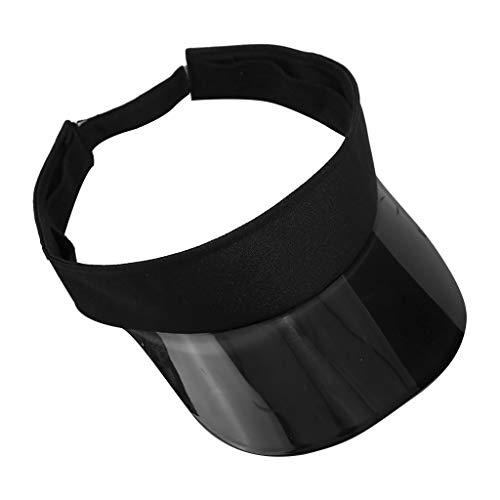 Sun Visor Hats for Women,Large Brim UV Protection UPF 50+ Summer Beach Cap Golf Cap Hats Adjustable Sun Hat Yamally Black