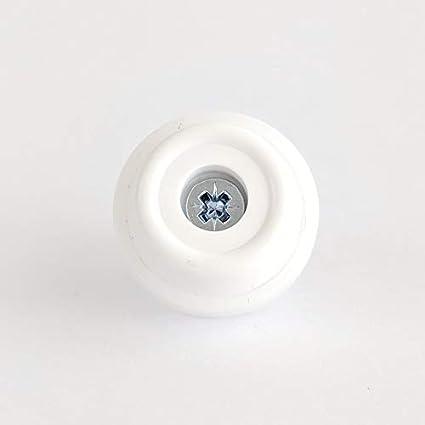 made in Germany Tappo di gomma nero o bianco per proteggere il pavimento Piedini in gomma antiscivolo per mobili Misure disponibili: 24/mm e 28/mm di diametro tavoli sedie
