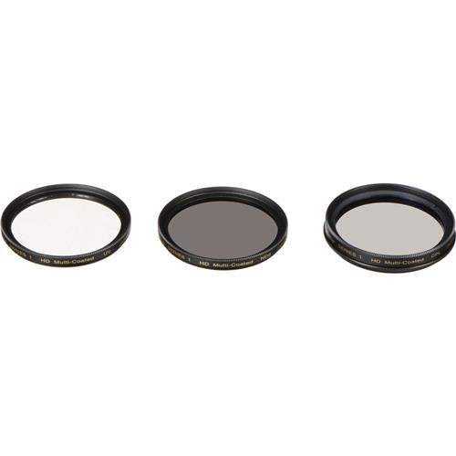 Vivitar 3-Piece Multi-Coated HD Filter Set (58mm UV/CPL/ND8)