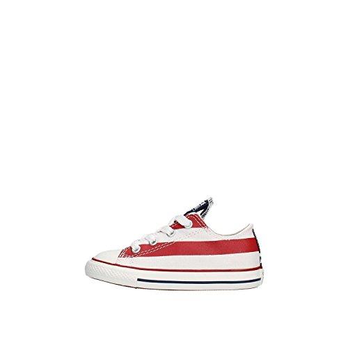CONVERSE - Scarpe bassa CONVERSE ALL STAR CT PRINT OX KIDS in tessuto con fantasia bandiera America 738558C - 738558C - 26, Multicolor