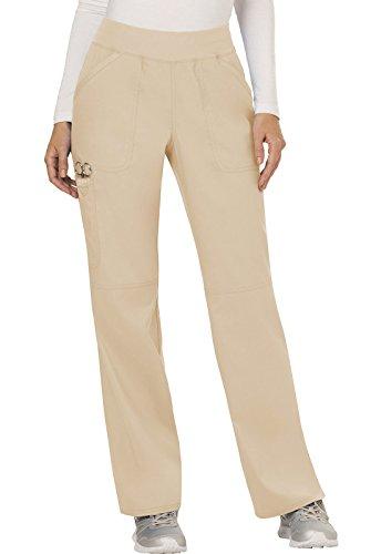 WW Revolution by Cherokee Women's Mid Rise Straight Leg Pull-on Pant Tall, Khaki, Large Tall
