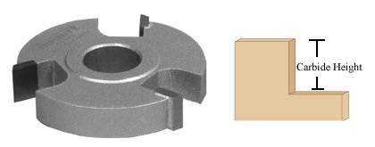 Infinity Tools 83-071, Rabbeting Shaper Cutter With 3/8'' Cutter Height, 3/4'' Bore