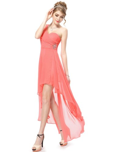 HE08100CO18 Coral 16US Ever Pretty Long Summer Dresses For Women 08100