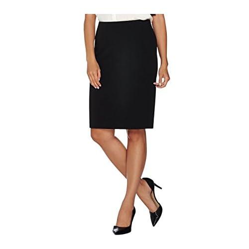 Dennis Basso Caviar Crepe Knit Pencil Skirt A286051