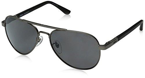 Revo Mens Polarized Sunglasses Raconteur Aviator Frame 58 mm, Gunmetal Frame, Graphite