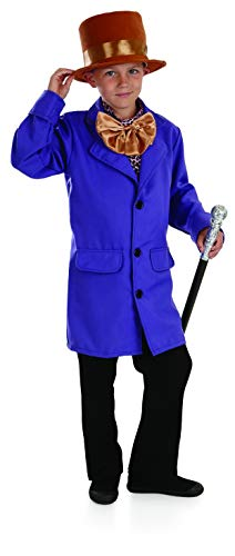 Kids Willy Wonka Costume Charlie and The Chocolate Factory Purple Outfit - Small -