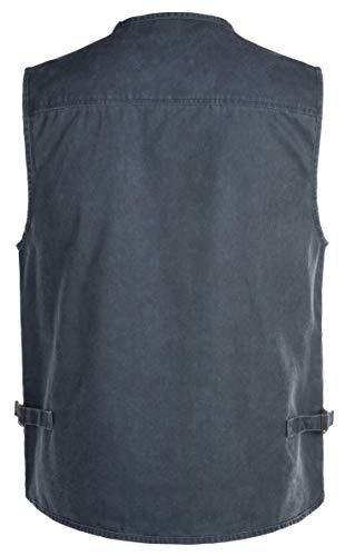 Poches Léger Sans D'extérieur Veste Manche bleu Gilet Neuf Dhyzz Tout Coton 1 16 Hommes Photographie Tops Casual Style wHSU86q