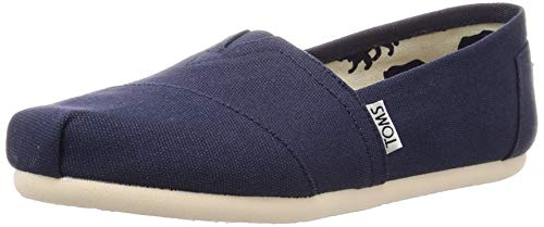 TOMS Navy Canvas Women's Classic 001001B07-NVY (Size: 7) (Tom Toms Shoes Womens)