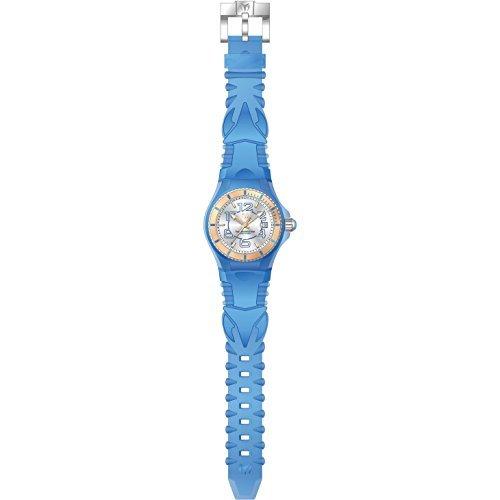 Technomarine Women's Cruise Stainless Steel Swiss-Quartz Watch with Silicone Strap, Blue, 23 (Model: TM-115135