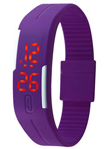 Fansport LED Watch Fashion Water-Resistant Touch Digital Watch Bracelet Watch Sport Watch (Purple)