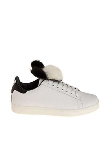 Moa Mujer MD1080 Blanco Cuero Zapatillas