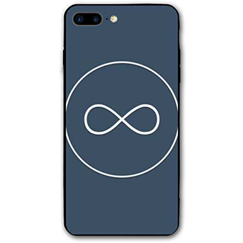 Xianjing iPhone 7 Plus Case/iPhone 8 Plus Case Circle Blue Eight Anti-Scratch PC Rubber Cover Lightweight Slim Printed Protective -