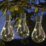 6x bombilla ornamentales Firefly para colgar funciona con energía solar al aire libre luces de jardín
