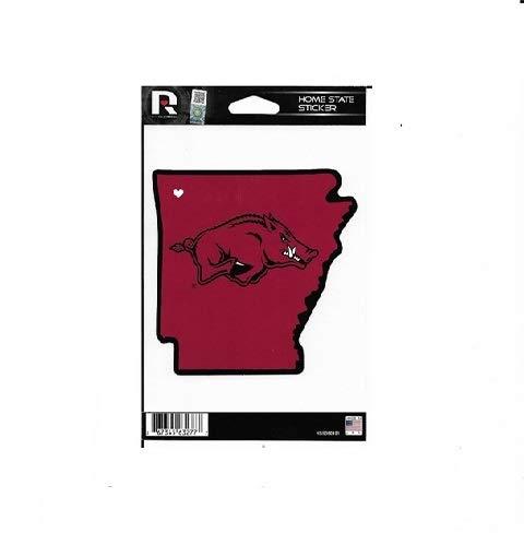 Arkansas Razorbacks Lapel Pins - Rico Industries NCAA Arkansas Razorbacks Home State Sticker