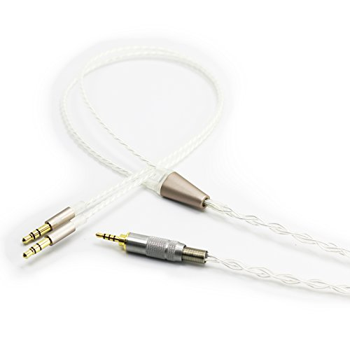 NewFantasia HiFi Cable with 2.5mm Trrs Balanced Male Compatible with Hifiman HE4XX, HE-400i (The Latest Version with Both 3.5mm Plug) Headphones & Compatible Astell&Kern AK240 AK380 onkyo DP-X1 FIIO